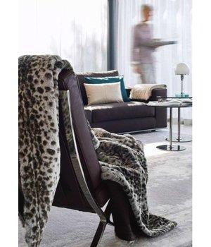 Winter-home Faux fur plaid 'Serval' 140cm x 200cm