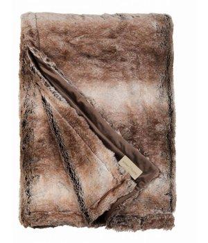 Winter-home Faux fur plaid 'Fox' 140cm x 200cm