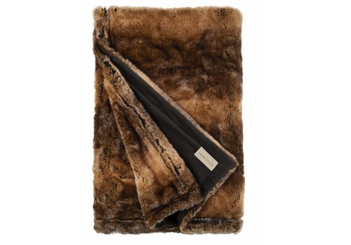 Winter-Home Faux fur plaid 'Beaver'