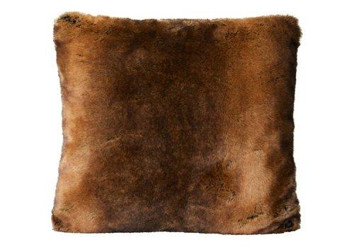 Winter-Home Cushion faux fur 'Beaver'