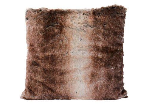 Winter-Home Cushion faux fur 'Fox'