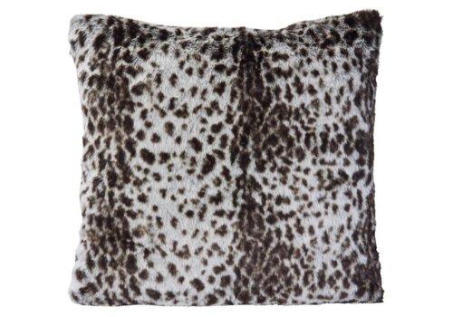 Winter-Home Cushion faux fur Serval