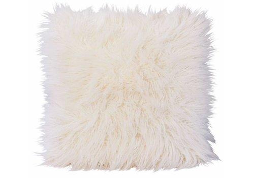 Winter-Home Cushion faux fur 'Curlywhite'