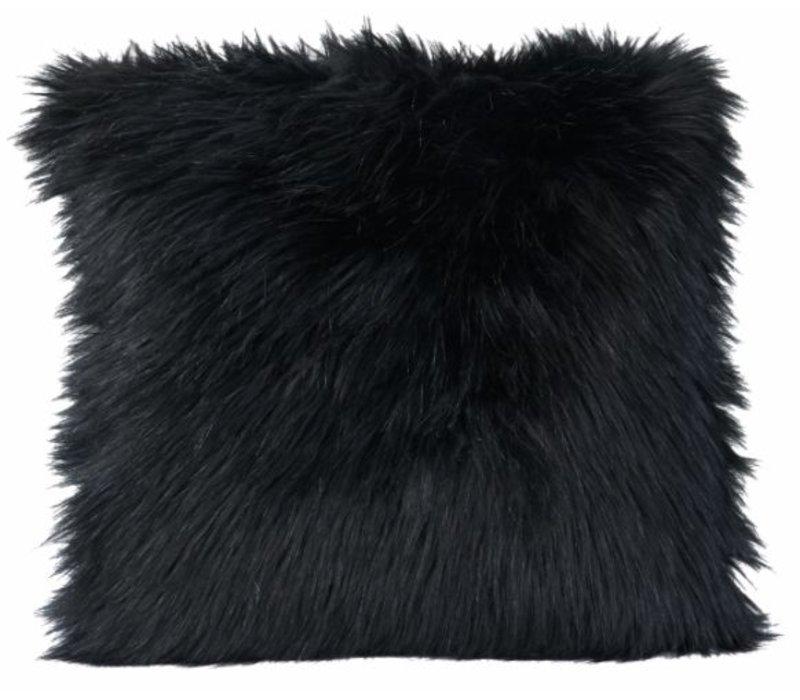 Fellkissen 'Blackwolf' in 45cm x 45cm