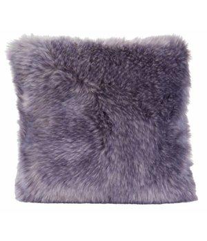 Winter-home Fellkissen 'Purplewolf' in 45cm x 45cm