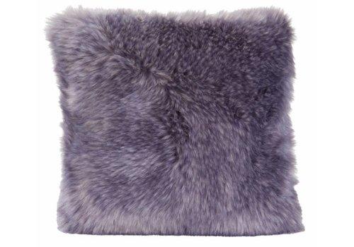 Winter-Home Cushion faux fur Purplewolf