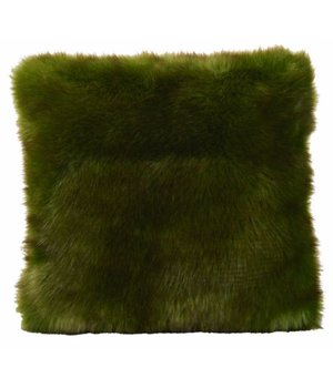 Winter-home Fellkissen 'Greenwolf' in 45cm x 45cm