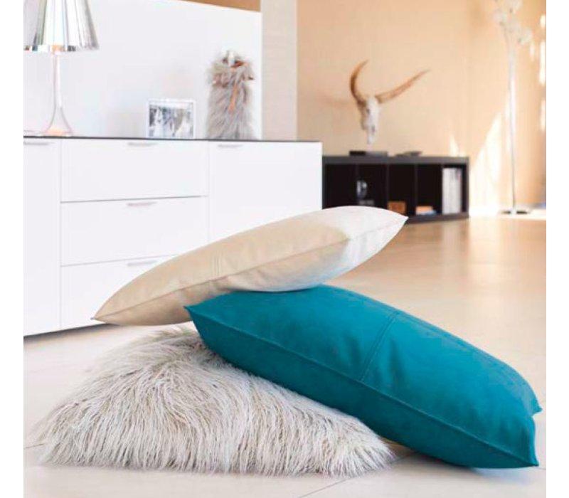 Dekokissen Alcantara 'Peacock' in 45cm x 60cm