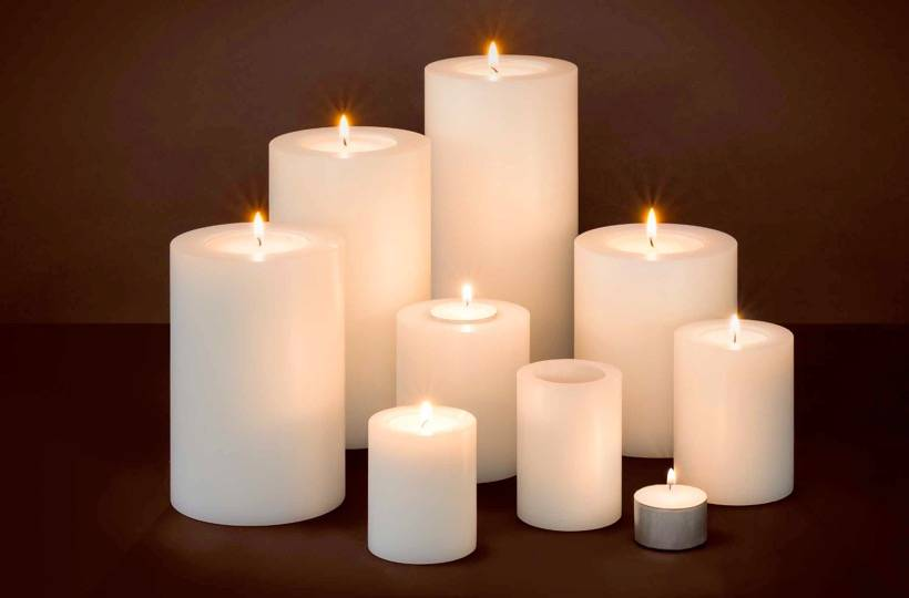 Artificial Candle Set S Wilhelmina Designs