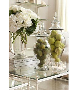 Eichholtz Glass vase 'Haubert' L H 56cm
