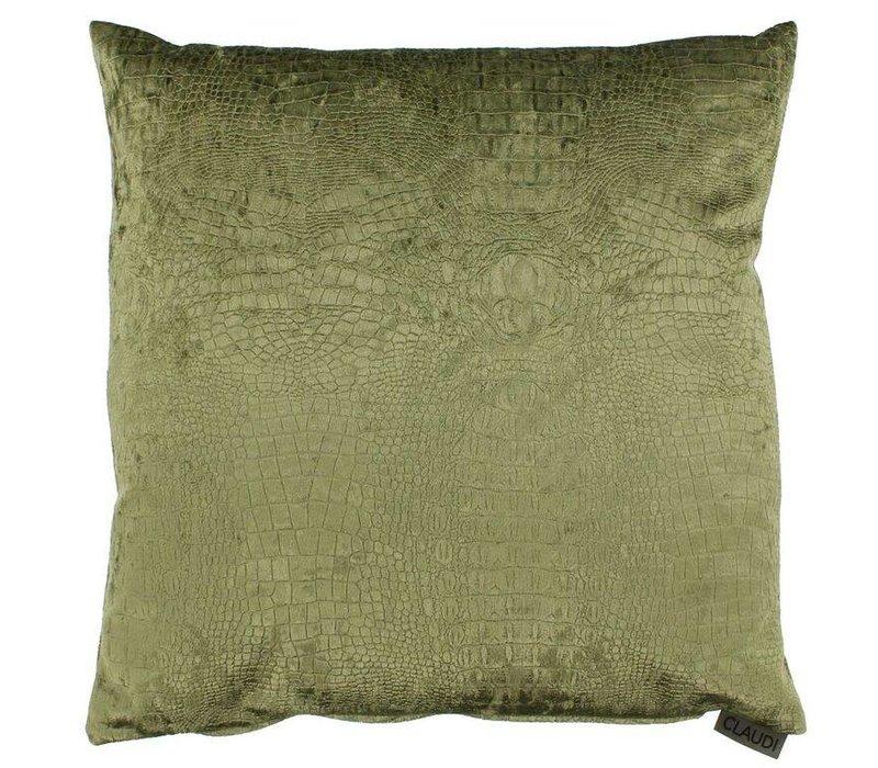 Throw pillow Esta color Olive