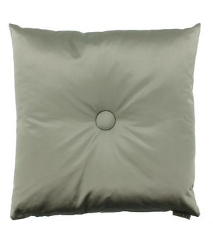 Claudi Throw pillow Dafne color Grey Mint with XL button
