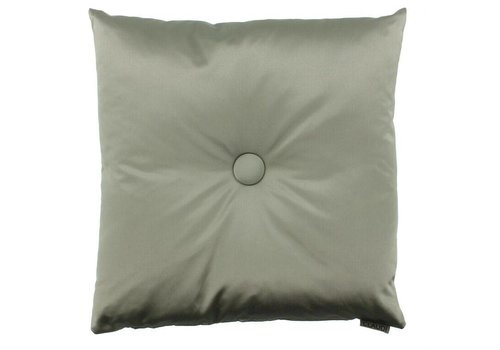 CLAUDI Chique throw pillow Dafne Grey Mint XL button