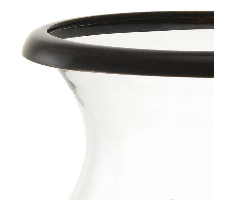 Windlicht 'Datcha' Bronze H48cm