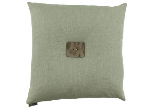 CLAUDI Design Cushion Albert Grey Mint + Leather