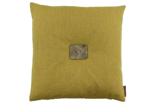 CLAUDI Design Cushion Albert Mustard + Leather