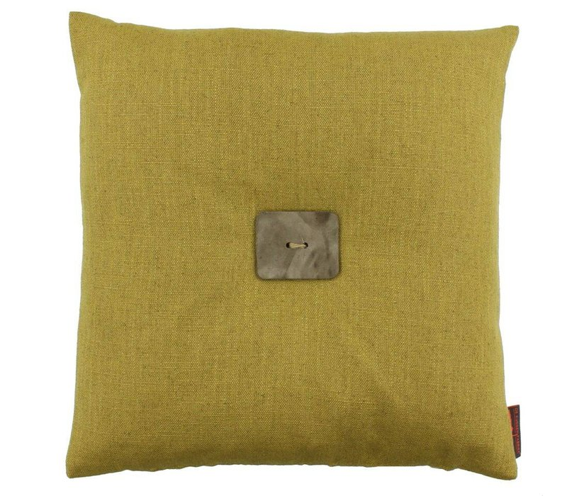 Cushion Albert Mustard + Leather