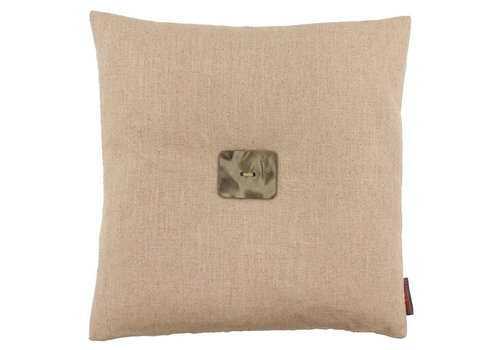 CLAUDI Design Cushion Albert Nude + Leather