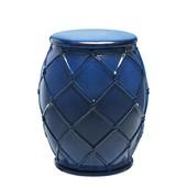 Eichholtz Beistelltisch Keramik 'Drum Rope' blue