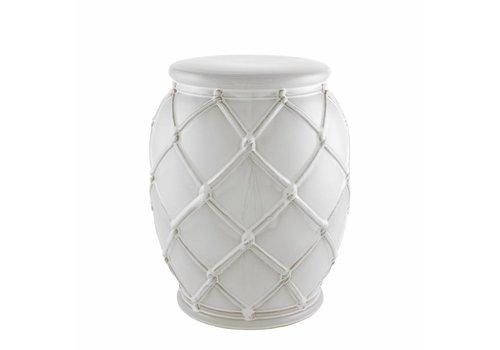 Eichholtz Beistelltisch Keramik 'Drum Rope' white