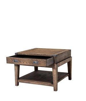 Eichholtz Sidetable 'Military Oak' 67,5 x 67,5 x 50cm