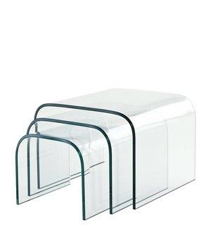 Eichholtz Glas-Beistelltische Reggiori Set von 3