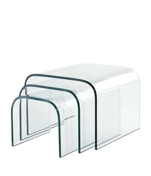 Eichholtz Glass side tables Reggiori Set of 3