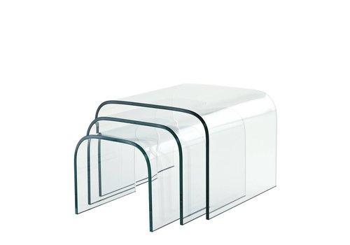 Eichholtz Glas-Beistelltische Reggiori