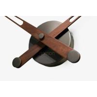 houten klok alleen wijzers 'Axioma N - Graphite'
