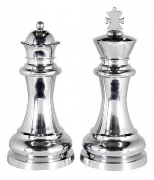 """Eichholtz Dekorationsset """"Chess King & Queen"""" besteht aus zwei großen Schachfiguren."""