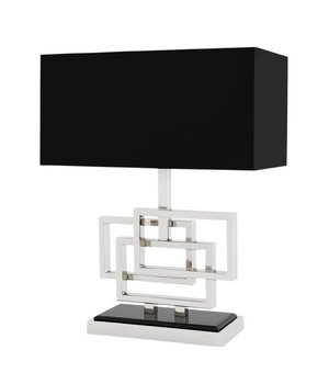 Eichholtz Table lamp 'Windolf' stainless steel with a shade in black