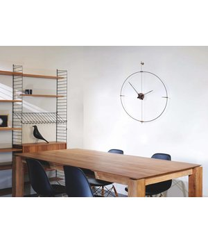 Nomon ronde klok 'Mini Bilbao' minimalistisch ontwerp