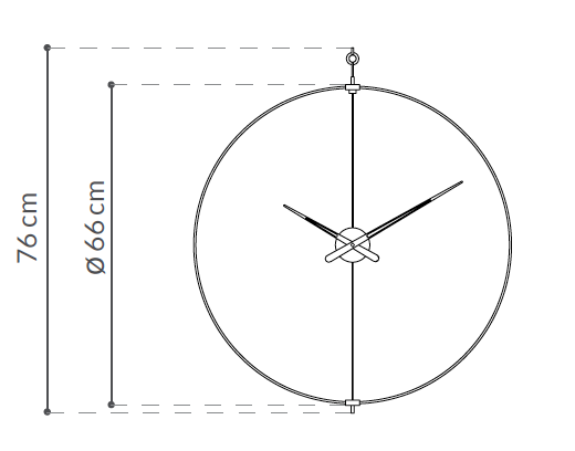 Wall clock mini barcelona wilhelmina designs the head of nomons design department is also the designer of the barcelona large wall clock a careful presentation attention to detail and manual ccuart Image collections