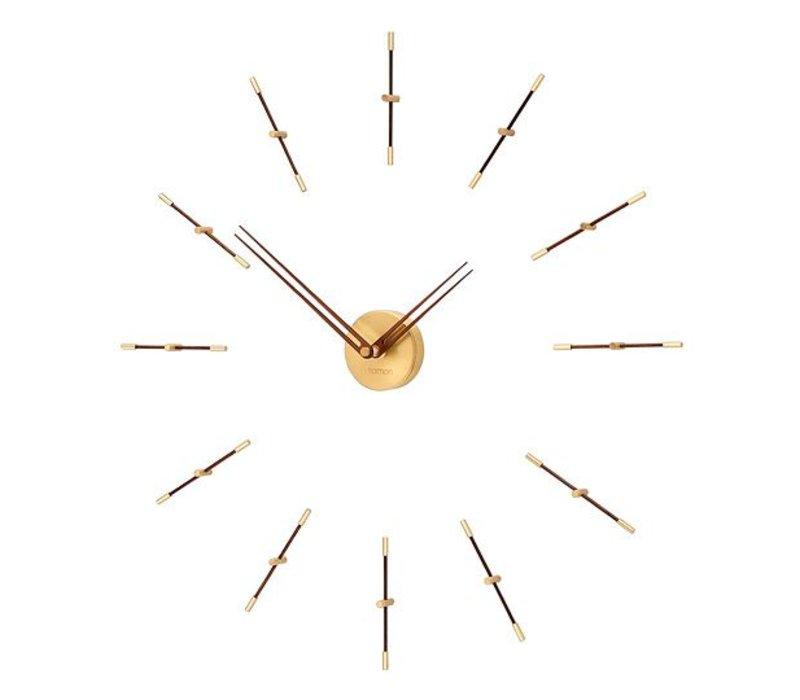 Mini Merlín Gold minimalistic large wall clock, 70cm.
