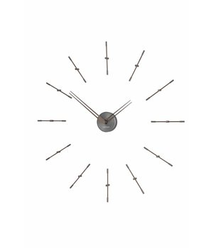 Nomon Mini Merlín Graphite minimalistic large wall clock, 70cm.