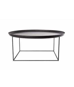 """NORR11 Beistelltisch """"Duke Large"""" in der Farbe Schwarz mit einem Durchmesser von 90 cm."""