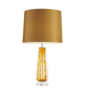 Eichholtz Table lamp 'Flato' stainless steel with a shade in gold