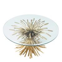 Designer-Wohnzimmertisch Bonheur mit einem Durchmesser von 90 cm.