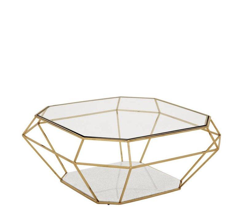 Design salontafel Asscher 100 x 100 x H. 41 cm