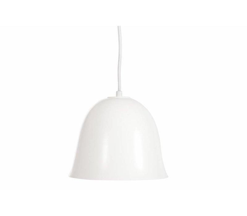 Design hanglamp 'Cloche One' in de kleur wit met goudkleurige binnenkant.
