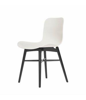 NORR11 Design stoel 'Langue Original Black' in de kleur Off white