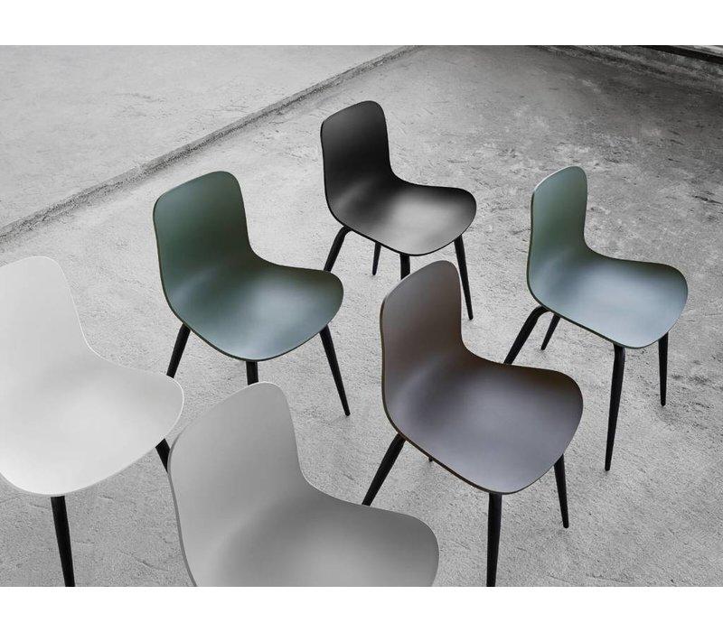 "Design-Stuhl ""Langue Original Black"" in der Farbe Flint Grey"