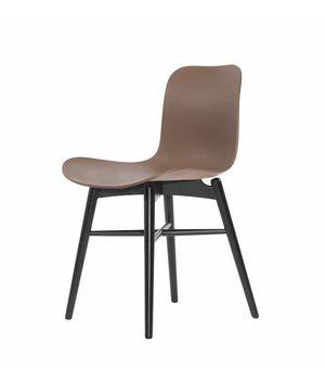 NORR11 Design-Stuhl Langue Original Black in der Farbe Gargoyle Brown