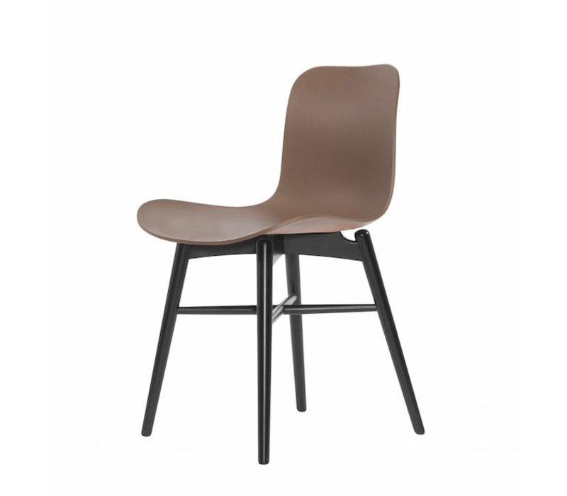 Design-Stuhl Langue Original Black in der Farbe Gargoyle Brown