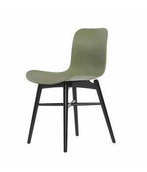 NORR11 Design-Stuhl Langue Original Black in der Farbe Moss Green