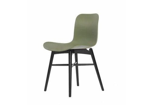 NORR11 Design-Stuhl Langue Original Black / Moss Green