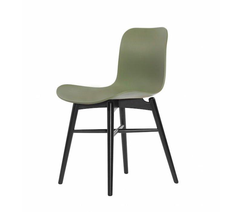 Design-Stuhl Langue Original Black in der Farbe Moss Green