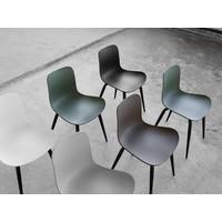 Design stoel 'Langue Original Black' in de kleur Anthracite Black
