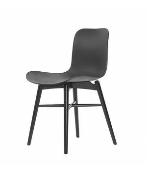 "NORR11 Design-Stuhl ""Langue Original Black"" in der Farbe Anthracite Black."