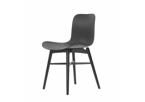 NORR11 Design-Stuhl Langue Original Black / Anthracite Black.